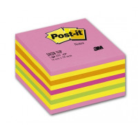 Bloc Cube Néon - POST IT - 5 Couleurs assorties