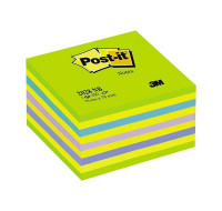 Cube de notes - POST IT - 76 x 76 - Neon bleu vert