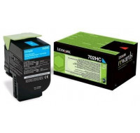 Toner laser 70C2HC0 - Lexmark - Cyan - Grande Capacité