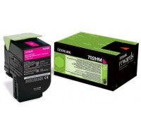 Toner laser 70C2HM0 - Lexmark - Magenta - Grande Capacité