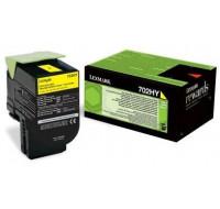 Toner laser 70C2HY0 - Lexmark - Jaune - Grande Capacité