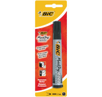 Marqueur indélébile multi-supports 2000 - BIC - Pointe large - Noir