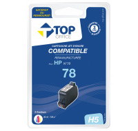 Cartouche d'encre compatible HP : 78 - TOP OFFICE - Couleurs