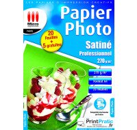 20 Feuilles papier photo A4 - MICRO APPLICATION - 270g