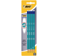 Lot de 4 crayons graphite HB Evolution - BIC - Embout gomme