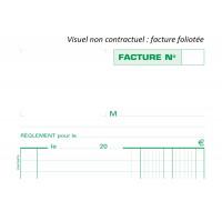 Lot de 5 manifolds factures - 13278SE - EXACOMPTA - 21 x 14,8 cm