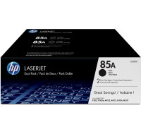 Pack de 2 toner laser HP 85A (CE285AD) - Noir