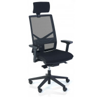 Fauteuil de bureau Ergo Performe - TOP OFFICE - Noir