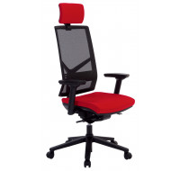 Fauteuil de bureau Ergo Performe - TOP OFFICE - Noir/Rouge