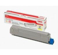 Toner laser 43487709 - Oki - Jaune