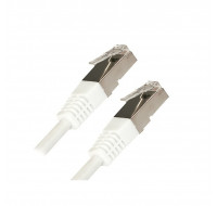 Cable RJ45 Cat5 - Blindé - Droit - 3m - APM - Blanc