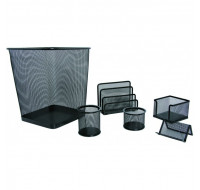 Ensemble de Bureau 6 Pieces Metallico - Noir
