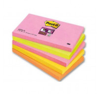 5 Blocs post-it Super sticky - POST IT - 127 x 76 mm - Coloris assortis