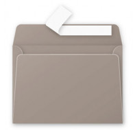 Lot de 20 enveloppes 114 x 162 - POLLEN - 120g - Gris acier