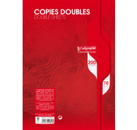 200 pages copies doubles A4 21x29,7 cm - CALLIGRAPHE - Petits carreaux