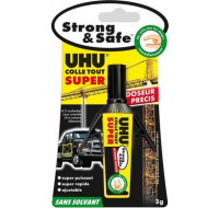 Tube de colle forte Strong & safe doseur précis - UHU - 3g