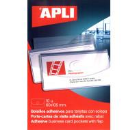 10 porte-cartes visite - APLI - 105x60 - Transparent