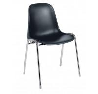 Chaise de réunion - Coque - Noir