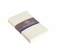 25 enveloppes Vergé gommées doublées - G.LALO - C6 - 150g - Blanc