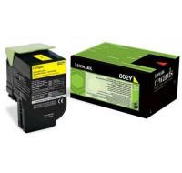 Toner laser 80C20Y0 - Lexmark - Jaune