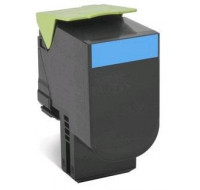 Toner laser 80C2SCE - Lexmark - Cyan - Grande Capacité