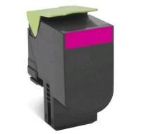 Toner laser 80C2SM0 - Lexmark - Magenta - Grande Capacite