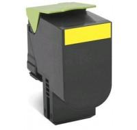 Toner laser 80C2SYE - Lexmark - Jaune - Grande Capacité