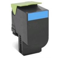 Toner laser 80C2XC0 - Lexmark - Cyan - Grande Capacite