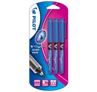 Lot de 3 stylos-feutre V-sign pen - PILOT - Pointe moyenne - Bleu