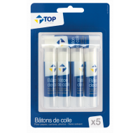 Lot de 5 bâtons de colle - TOP OFFICE - 10g