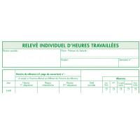 Carnet d'enregistrement du temps de travail RTT - 13136E - EXACOMPTA - 29,7 x 21 cm