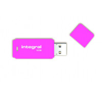 Clé usb Néon - 16Go - INTEGRAL - USB 2.0 - Rose