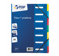 Trieur A4 - TOP OFFICE - 7 compartiments - Bleu
