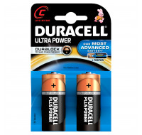 2 Piles Alcaline LR14 Ultra Power - DURACELL