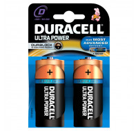 2 Piles Alcaline LR20 Ultra Power - DURACELL