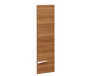 Porte pleine haute pour bibliothèque - XENON - L33 cm - Finition merisier/blanc