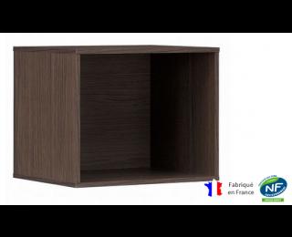 Cube intégrable pour bibliothèque - XENON - L42 cm - Finition chêne/blanc