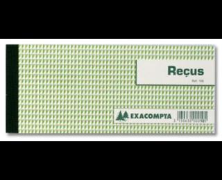 Carnet à souches Reçus - 10E - EXACOMPTA - 9 x 13 cm