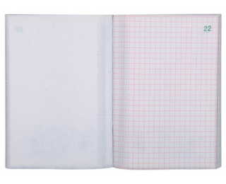 Carnet quadrillé tripli - 3241E - EXACOMPTA - 14,8 x 10,5 cm