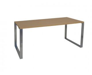 Plan rectangulaire 2 pieds 1 poutre 140 cm - URBAN - Chêne clair/chromé