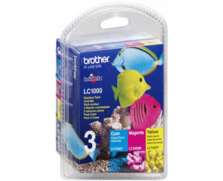 Pack 3 cartouches d'encre BROTHER LC1000 - 3 couleurs