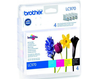 Pack 4 cartouches d'encre BROTHER LC970 - 4 couleurs