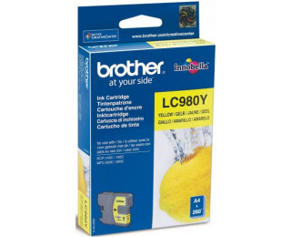 Cartouche d'encre BROTHER LC980Y - Jaune