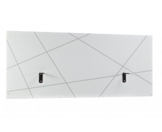 Ecran de séparation pour bureau de 120 cm de large SUNDAY, largeur : 120 cm - Finition blanche