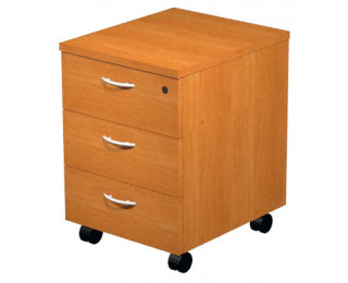 Caisson 3 tiroirs aulne ELEA, largeur : 43 cm
