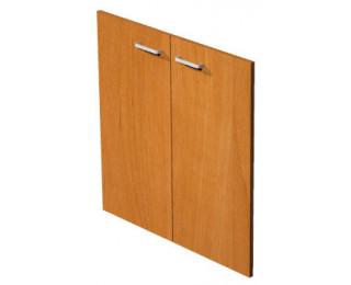 Jeu de portes étagère basse aulne avec serrure ELEA, largeur : 80 cm
