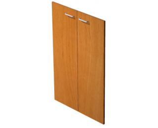 Jeu de portes étagère mi-haute noir avec serrure ELEA, largeur : 80 cm