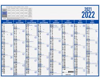 Calendrier 2020 Et 2019.Calendrier Annuel 2019 2020 Oberthur 40 X 55 Bleu