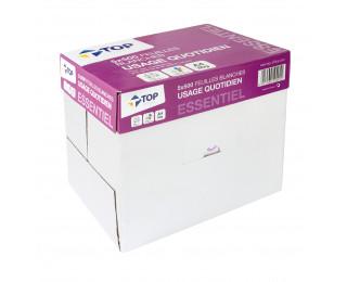 Caisse de 5 Ramettes de 500 Feuilles ESSENTIEL - TOP OFFICE - A4 - 80Gr - Blanc