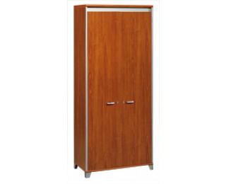 Armoire largeur 80 cm - 2 portes - MAMBO - Finition Poirier / Gris